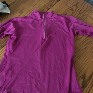 Purple Nike half zip- dri fit